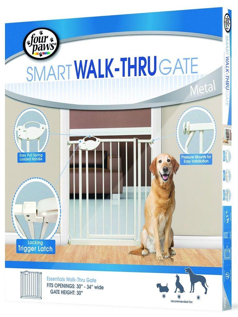 Four Paws Essential Walk Thru Metal Dog Gate Petonly Ca