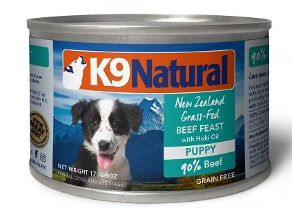 K9 Natural Puppy Grain Free Beef Amp Hoki Oil Canned Dog