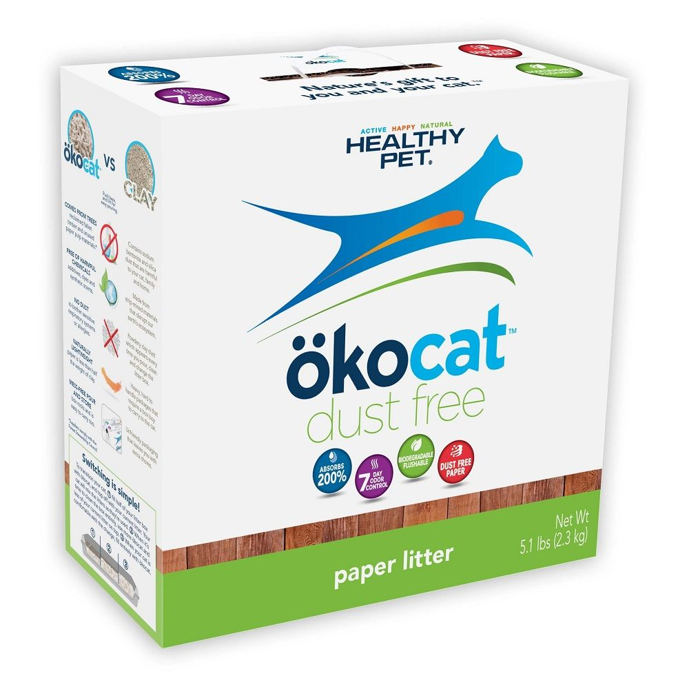 Okocat Dust Free Paper Non Clumping Cat Litter Petonly Ca